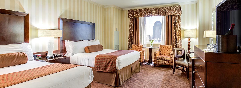 Two queen bed hotel room