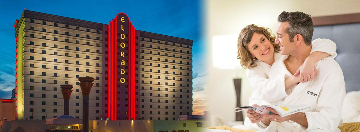 Eldorado Resort Casino Shreveport, couple relaxing in hotel room