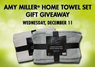AMY MILLER HOME TOWEL SET Gift Giveaway Wednesday, December 11