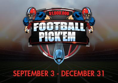 $1,000,000 FOOTBALL PICK'EM SEPTEMBER 3 - DECEMBER 31