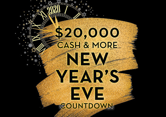 $20,000 Cash & More New Year's Eve Countdown