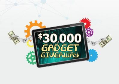 $30,000 Gadget Giveaway logo