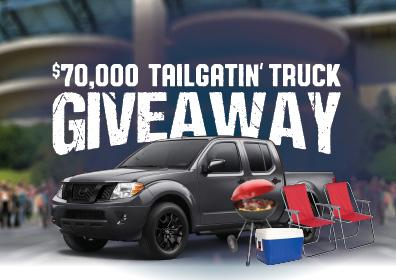 $70,000 TAILGATIN' TRUCK GIVEAWAY