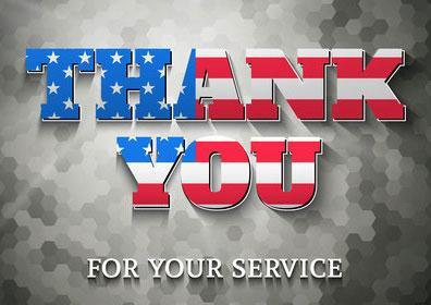 Thank you for your service Military Rate