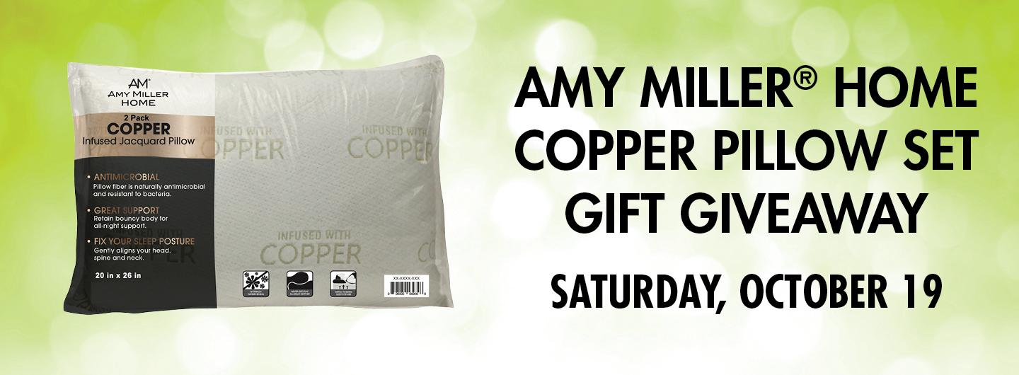 AMY MILLER® HOME COPPER PILLOW SET GIFT GIVEAWAY Saturday, October 19