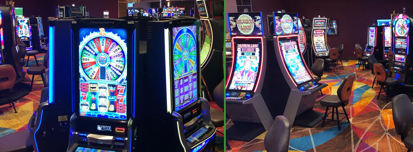 Images of slot machines in Poker Room
