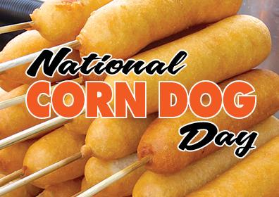 Graphic Image of a corn dog