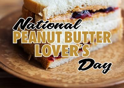 Graphic Image of Peanut Butter display for National Peanut Butter Lover's Day