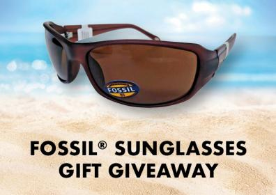 Brown Fossil Sunglasses Giveaway