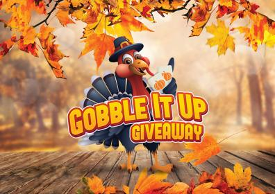 Gobble Up Giveaway with a turkey