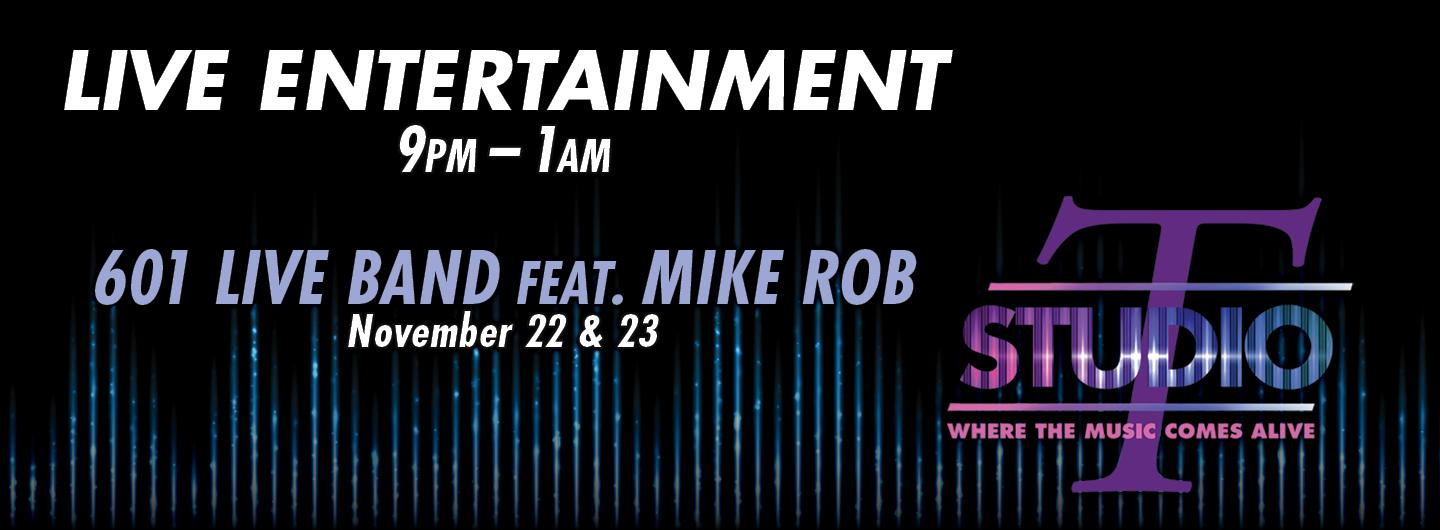 Graphic design 601 Live band feat Mike Rob
