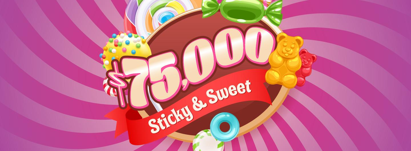 Graphic design Candy image with $75, 000 centered
