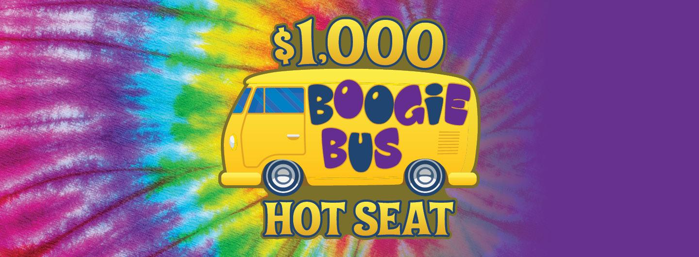 Graphic Image of a colorful bus with a numeric representation of $1000