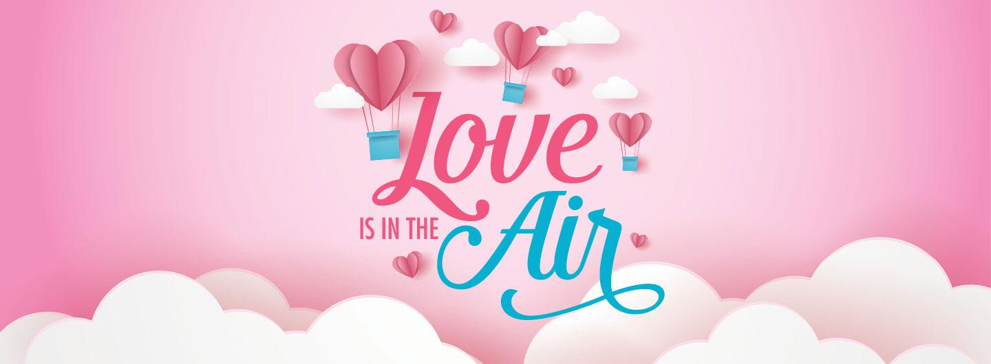Love is in the air giveaway promotion