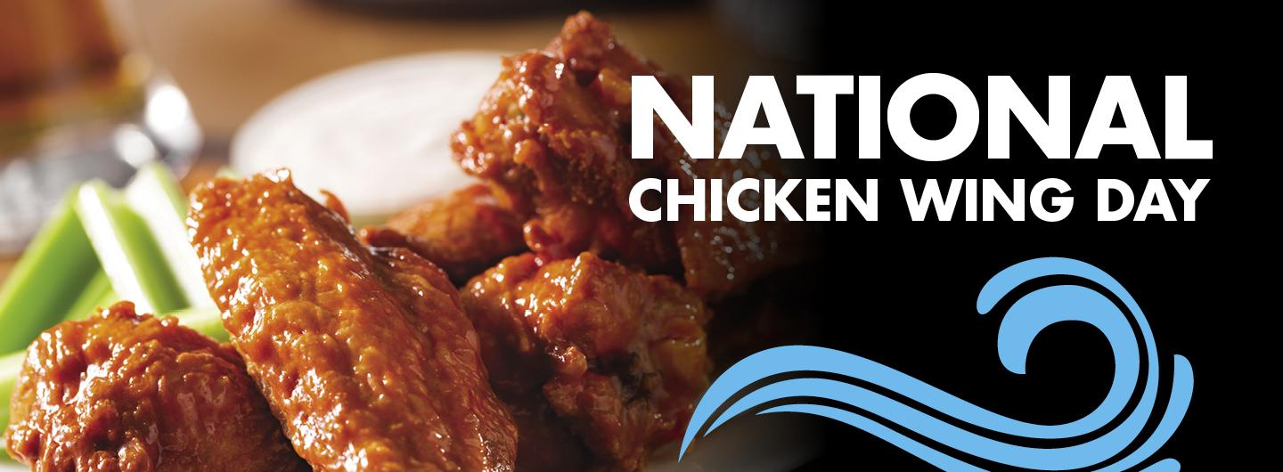 National Chicken Wing Day at Blue Water's Cafe Logo