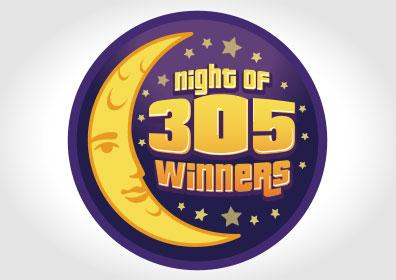 Night of 305 Winners Card