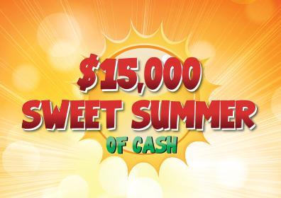 $15K Sweet Summer of Cash Card Image
