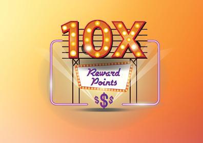 10x Reward Points Card Image