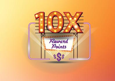 10x Reward Points Card