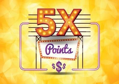 5X Points logo