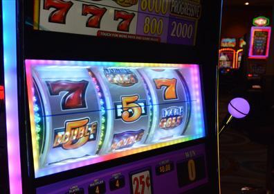 Close up of slot machine