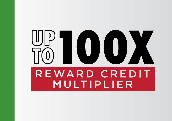 Loyal Locals Up To 100X Reward Credit Multiplier
