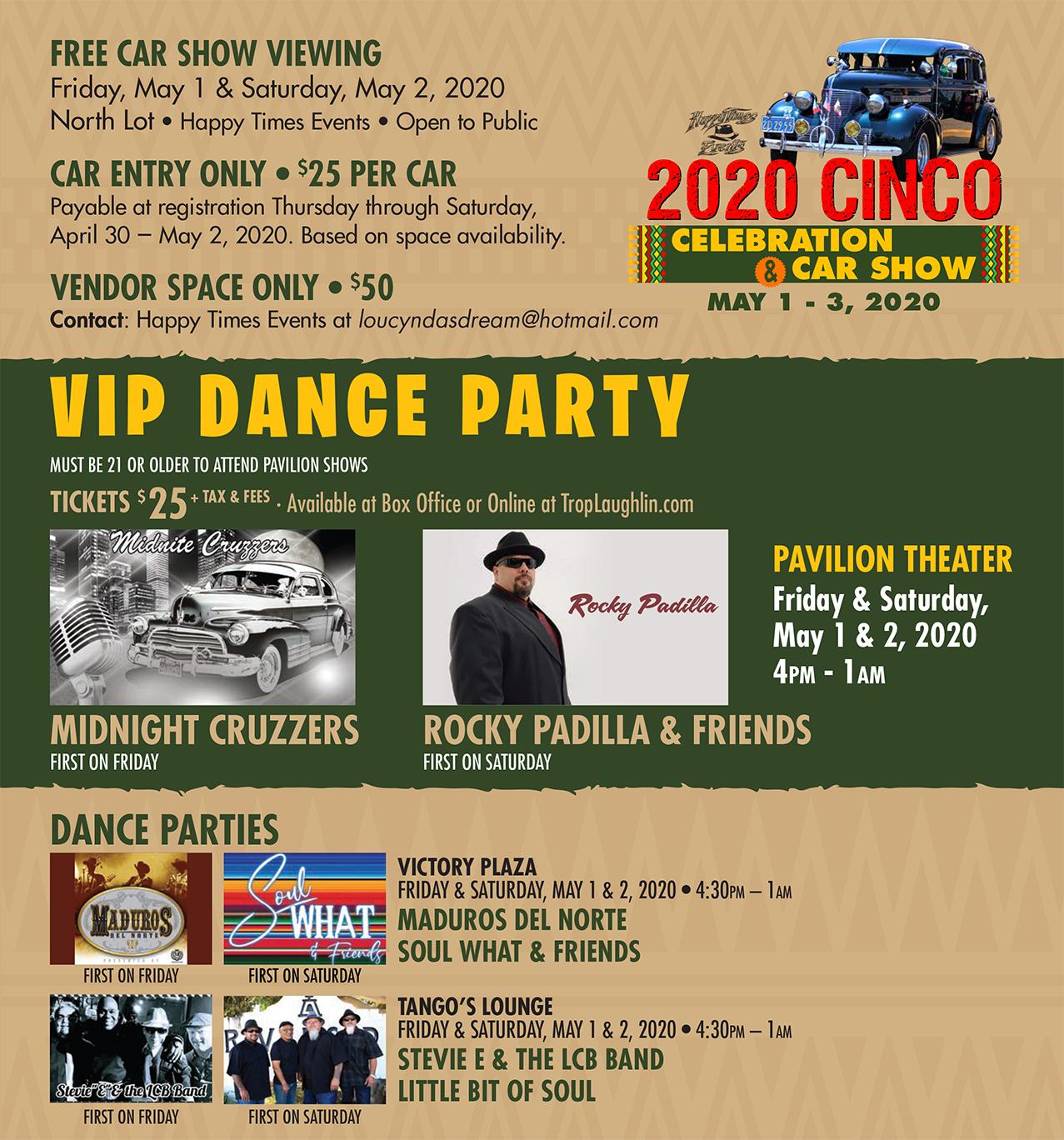 2020 Cinco de Mayo Celebration & Car Show Entertainment Flyer