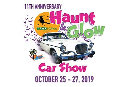 Classic Car with Haunt & Glow Event Logo
