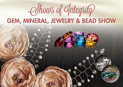 Shows of Integrity Logo with pictures of beads and gems