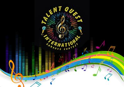 Talent Quest logo with colorful musical notes