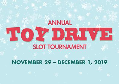 Annual Toy Drive Slot Tournament