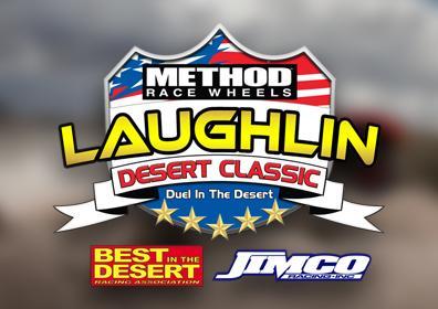 Laughlin Desert Classic Logo in front of desert