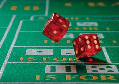 Dice on Gaming Table
