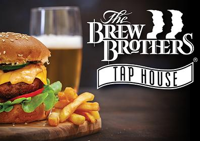 Burger and Fries at The Brew Brothers Tap House