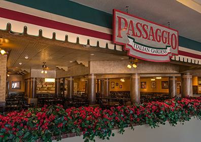 Front of Passaggio Italian Gardens Restaurant