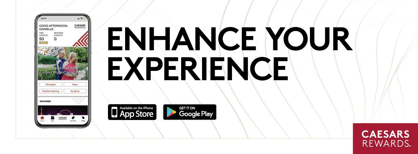 """Mobile Phone with text reading """"Enhance your Experience"""""""