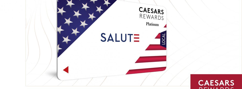 Caesars Rewards Salute to Veterans Players Card