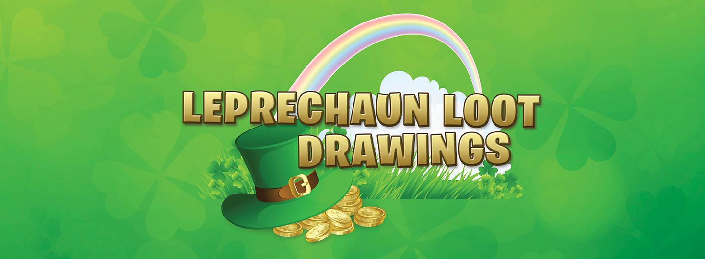 Leprechaun Loot Drawings with Rainbow Hat and Gold Coins