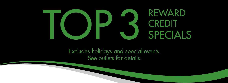 Top 3 Reward Credit Specials