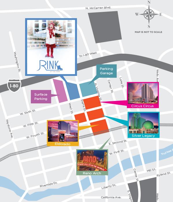 reno nevada map of casinos