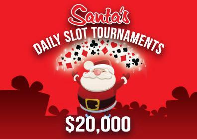 $20,000 Santa's Daily Slot Tournaments Logo
