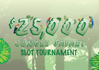 $25,000 Jungle Safari Slot Tournament Logo