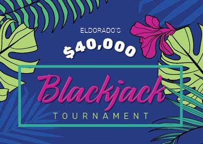 Eldorado's $40,000 Blackjack Tournament Logo