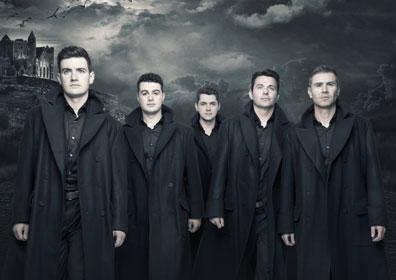 Celtic Thunder band members posing