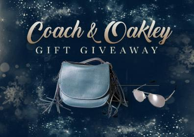 A beautiful Coach purse and Oakley sunglasses