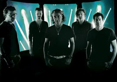 The band Collective Soul posing