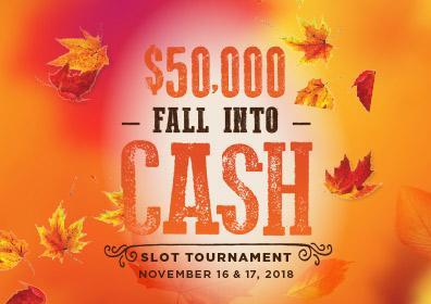 Fall Into Cash Slot Tournament Logo