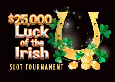 $25,000 Luck of the Irish Slot Tournament Logo