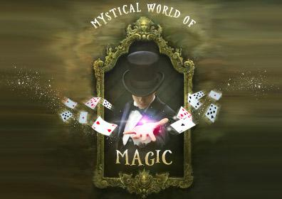 Magician with a deck of cards