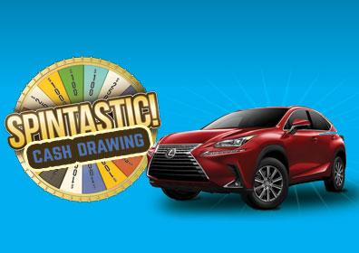 Spintastic logo with Lexus car